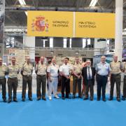 Mandos militares han visitado esta mañana la Feria de Muestras de Valladolid