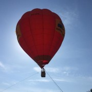 Subidas en globo cautivo en la Feria de Muestras de Valladolid