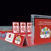 """Juegos infantiles de EDP en la Feria de Muestras: talleres creativos, pintacaras, juegos de puntería y circuito """"RunnerSlot"""""""
