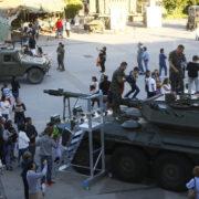 Exposición de material de las Fuerzas Armadas en la Feria de Muestras