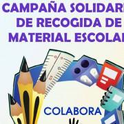 Campaña de recogida de material escolar de la Fundación Social Asvai