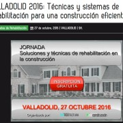 Jornada sobre técnicas y sistemas de rehabilitación para una construcción eficiente