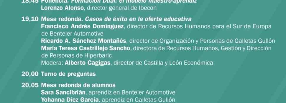 """Entrada Castilla y León económica presenta """"FP, un modelo de éxito para captar talento"""""""