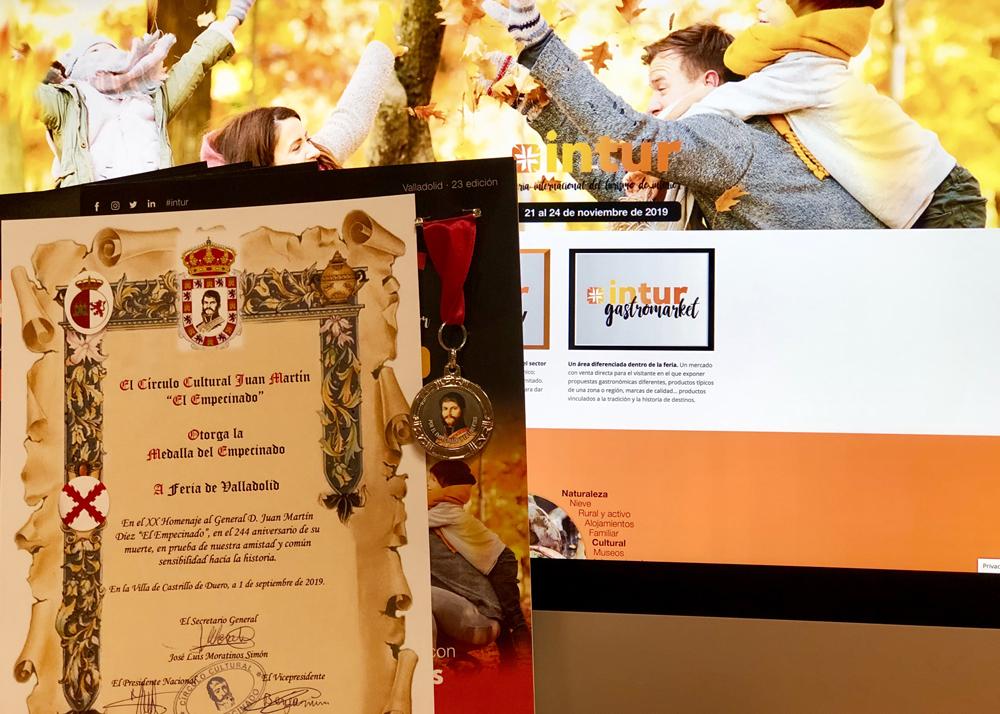 INTUR recibe la Medalla del Círculo Cultural El Empecinado