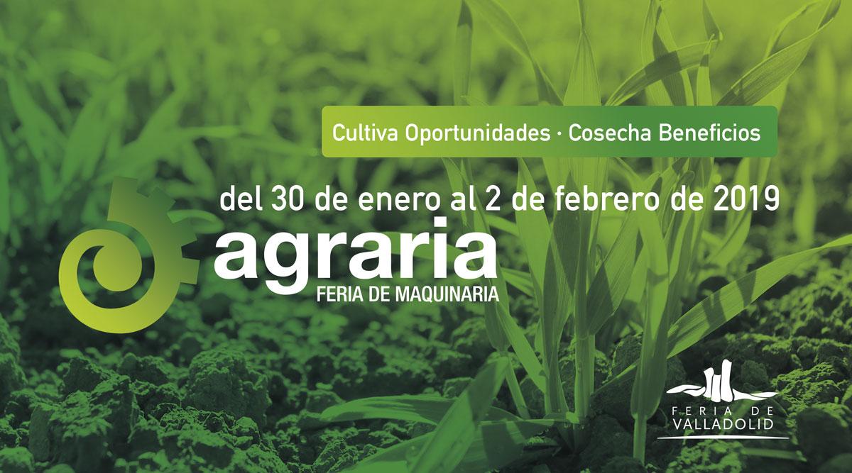 La sexta edición de AGRARIA comenzará el 30 de enero de 2019 en la Feria de Valladolid